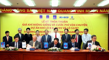 pvn pvep moeco pttep and pv gas sign agreements on block b o mon project