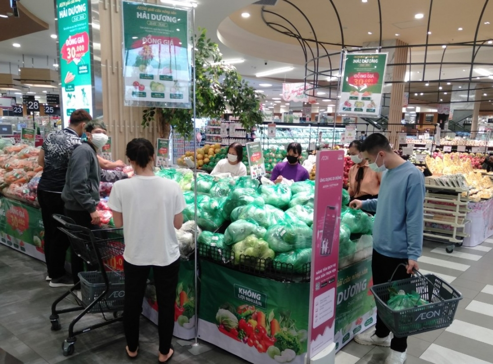 aeon vietnam support the consumption of hai duong agricultural products without profit