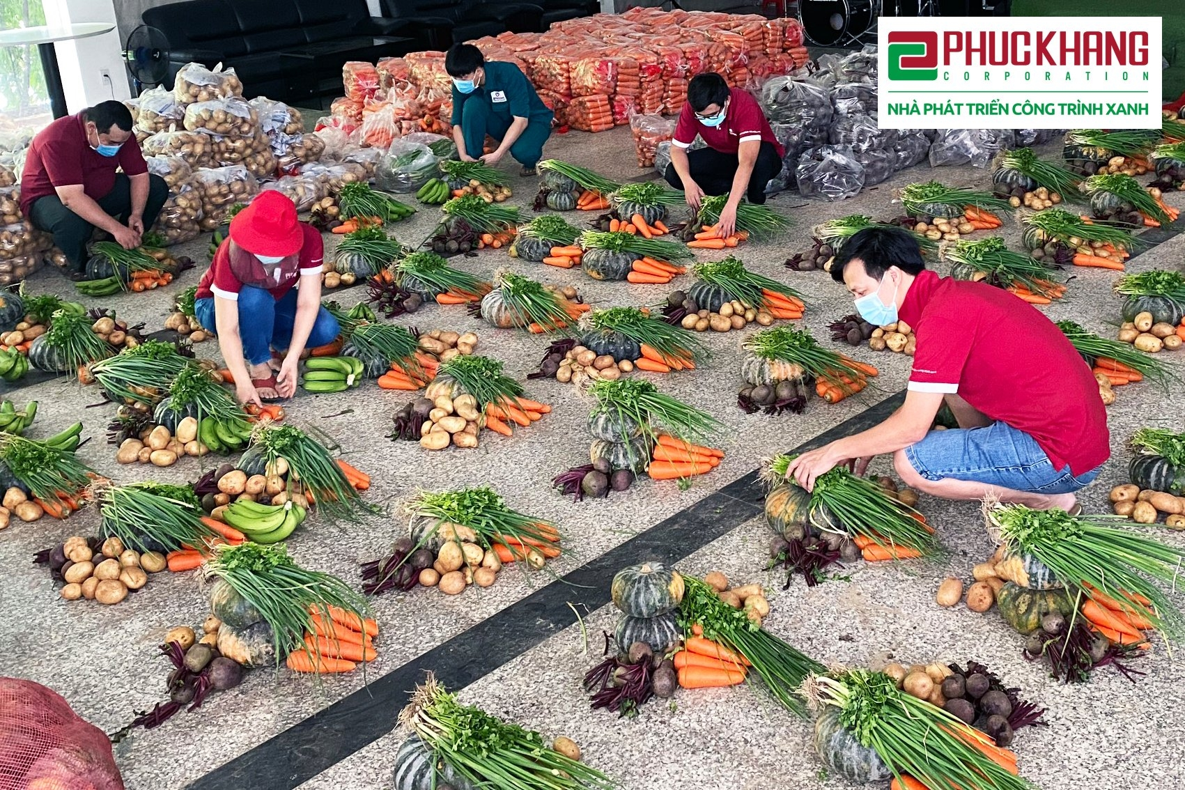 the second campaign giving vegetables with compassion and fighting covid 19 with determination compassionate response