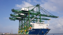 three made in vietnam cargo container cranes arrive at the india