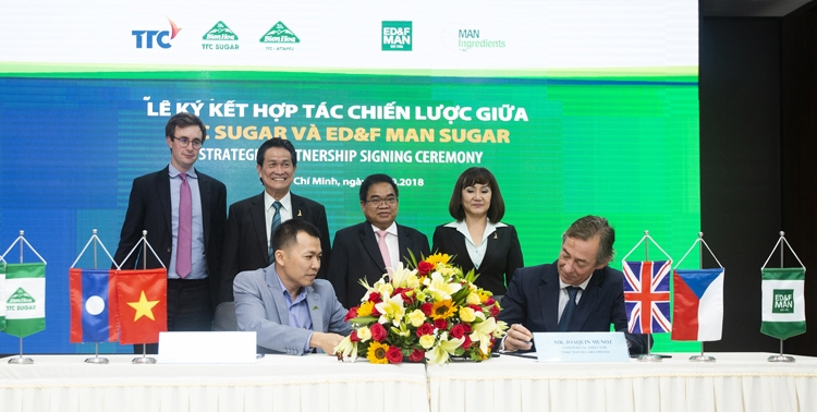 strategic partnership signing ceremony between ttc sugar edf man sugar