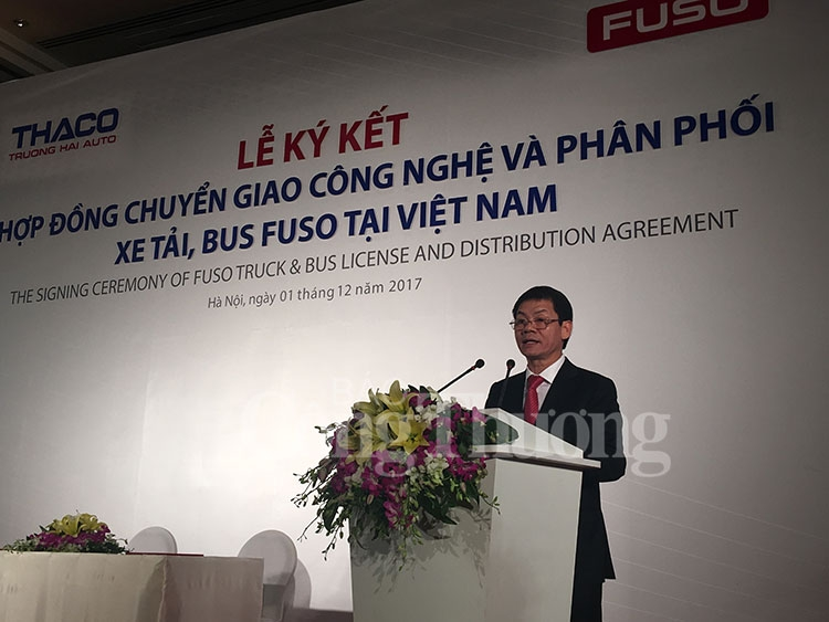 mitsubishi fuso announces thaco as new general distributor for fuso products in vietnam