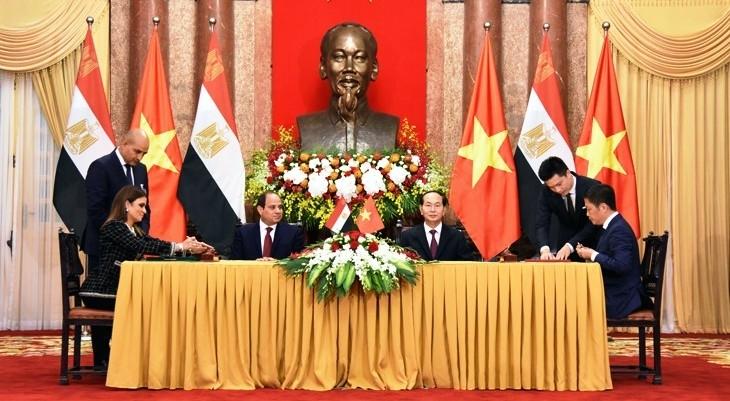 top level visit boosts vietnam egypt trade
