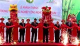 high tech agricultural centre inaugurated in thanh hoa