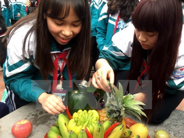 Five-fruit tray at traditional Tet
