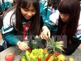 five fruit tray at traditional tet