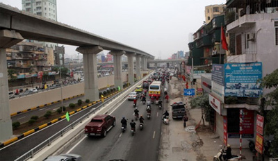 Hanoi's first elevated rail line to start service in December