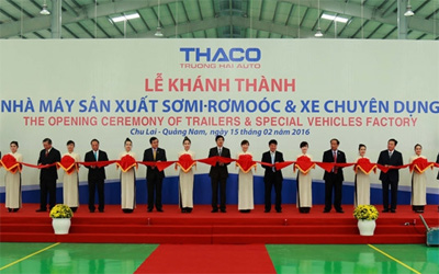 Thaco's trailer manufacturing factory inaugurated