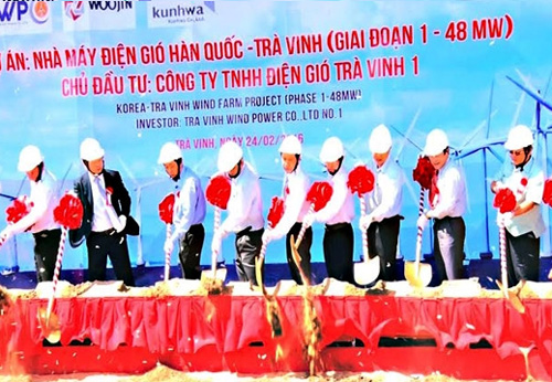 Construction on RoK-Tra Vinh wind power plant begins