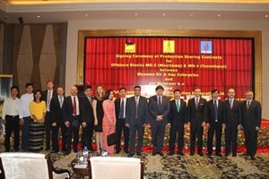 vietnamese myanmar companies sign oil and gas contract
