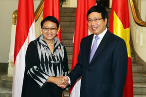 VN, Indonesia agree to lift up trade value to US$10 bln
