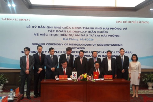 LG Display to invest $1.5b in Hai Phong