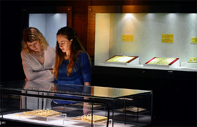 Nguyen Dynasty gold books on display in Hanoi
