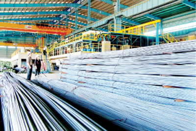 Protectionist duties levied on imported steel