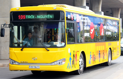 Express bus service to reduce travel time from inner Hanoi to Noi Bai Airport