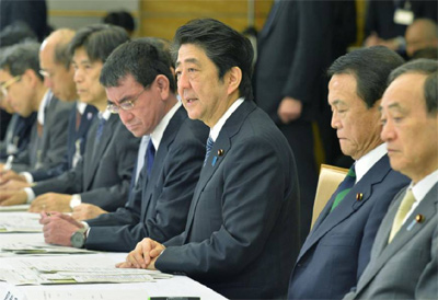 Japan's Abe orders extra budget for earthquake reconstruction