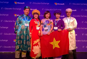 Vietnam educators celebrate win at Microsoft E² Educator Exchange