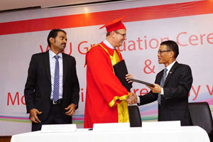 VGU organizes graduation ceremony, signs MoU with Bosch Vietnam