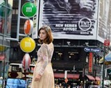ao dai dresses up new york times square