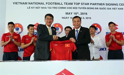 Suzuki supports football teams for next two years