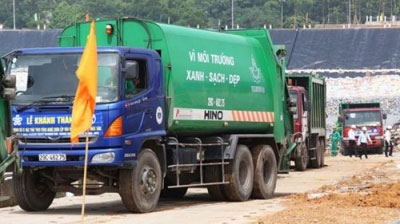 Japan-technology waste treatment plant operated in Hanoi
