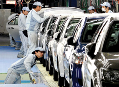 Five-month industrial production highlights