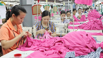 Garment exports rise in first six months
