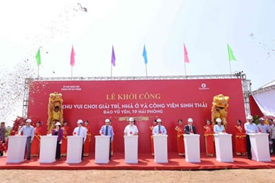Vingroup begins construction of luxury project in Hai Phong