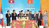 vietnam laos border trade agreement great progress in trade investment ties