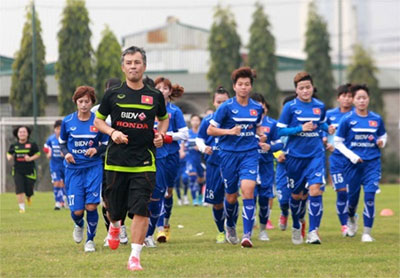 National women's football team gather for Olympic qualifiers