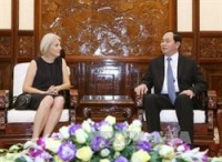 vietnam gives importance to relationship with denmark president