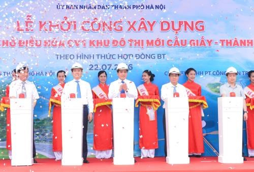 Hanoi starts construction on park in Cau Giay