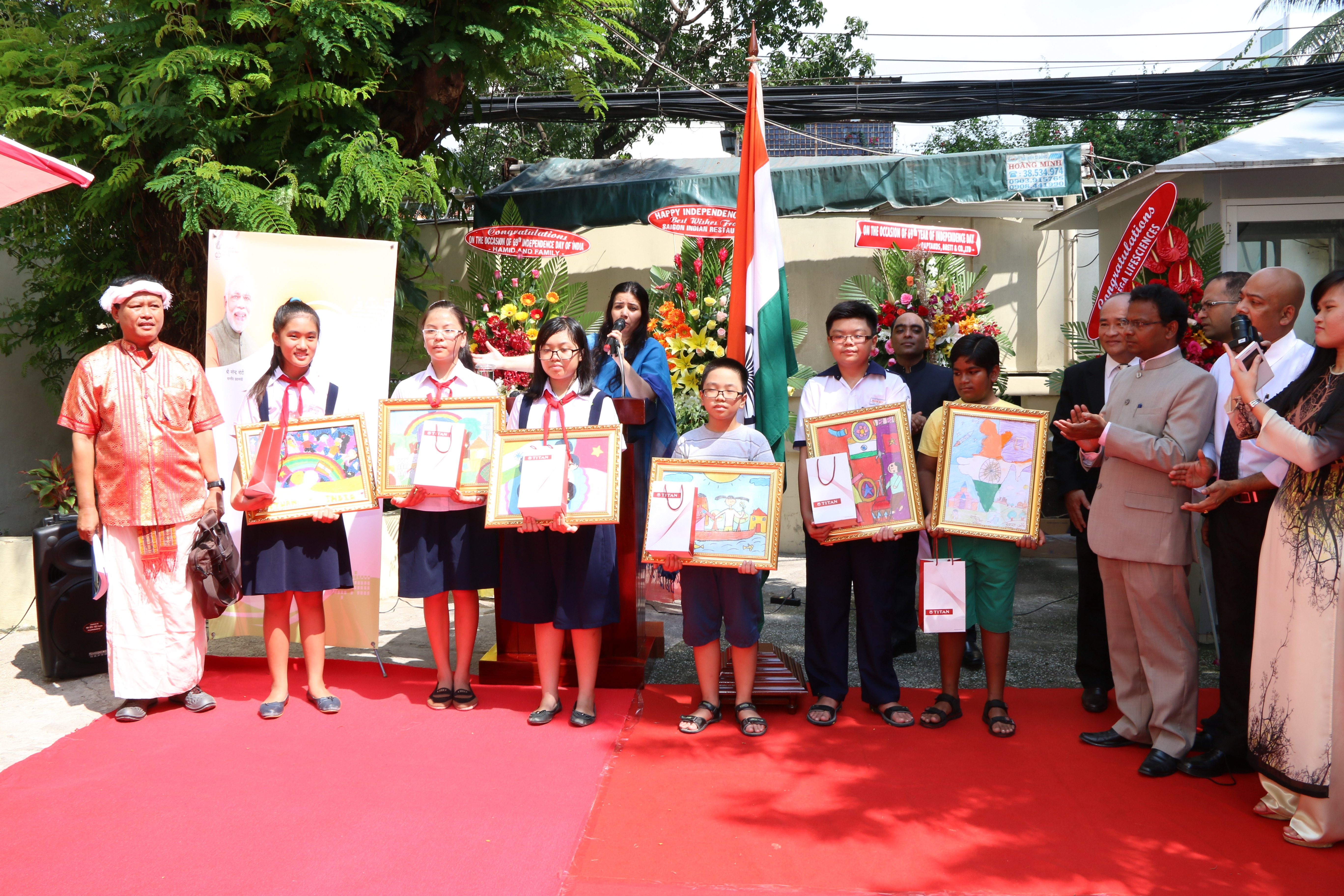 Commemorating the 69th Independence Day of India in HCMC