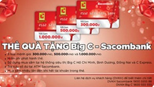 Big C-Sacombank launches gift cards