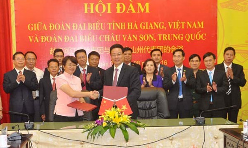Ha Giang, Chinese locality look to boost ties