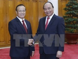 government leader hosts lao deputy prime minister