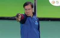 vinh grabs silver at mens 50m pistol