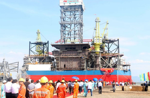 Offshore Vietnam oil rig launched in south