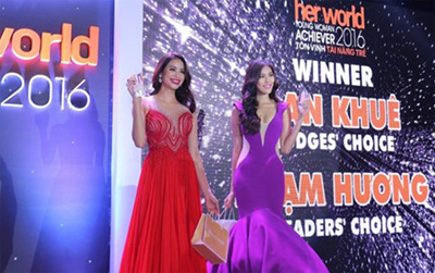 Lan Khue, Pham Huong get Her World Young Woman Achiever 2016