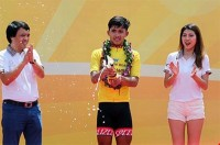 nhan wins first stage of cycling cup