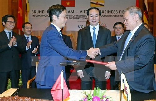 President encourages Brunei firms to invest in Vietnam