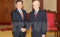 party general secretary welcomes lao guest
