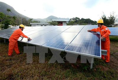 First solar power plant built in Quang Ngai