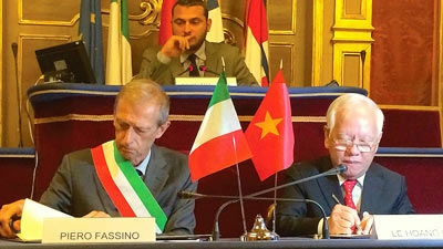 Ho Chi Minh City and Italy's Turin city strengthen friendship and co-operation