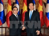 vietnamese lao pms hold talks to boost cooperation