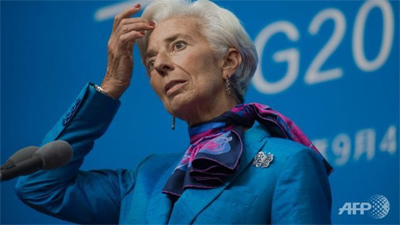 IMF chief says 'get-tough' politicians threaten trade