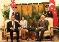 state president visits singapore brunei great impetus for trade investment cooperation