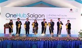 celebrate groundbreaking of onehub saigon at saigon hi tech park in ho chi minh city