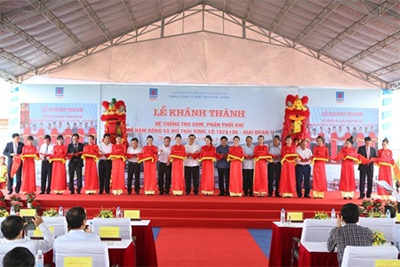 Gas distribution system starts up in Thai Binh