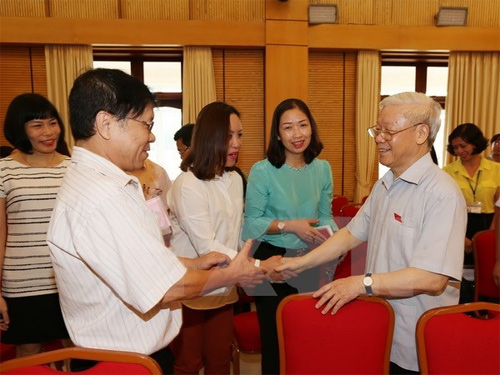 Hanoi voters raise opinions on various issues